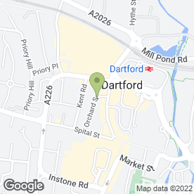 Map of Beautiful Eyebrows in Dartford, kent