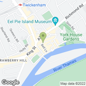 Map of The Fox in Twickenham, middlesex