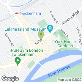 Map of Zizzi in Twickenham, middlesex