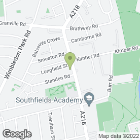 Map of Southfields Tyre & Battery Service Ltd in London, london