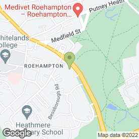 Map of Roehampton C.E School in London, london