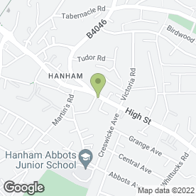 Map of Hanham Community Centre in Bristol, avon