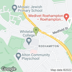 Map of Greggs in Roehampton, London, london