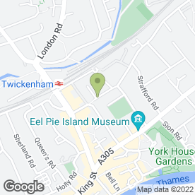 Map of Richmond & Twickenham Blinds in Twickenham, middlesex