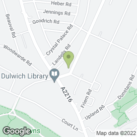 Map of Supreme o Roofing in DULWICH, london