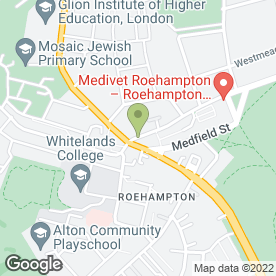 Map of Roehampton Veterinary Clinic Ltd in London, london