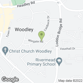 Map of Woodley Mini Digger Hire with Driver in Woodley, Reading, berkshire