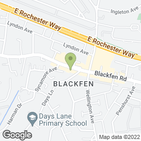 Map of Blackfen Flooring Ltd in Sidcup, kent