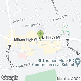 Map of Greggs in Eltham, London, london