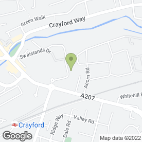 Map of THE BED POST in Crayford, Dartford, kent