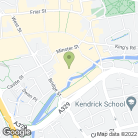 Map of Costa Coffee in Reading, berkshire