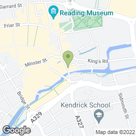 Map of London Street Barber Shop in Reading, berkshire