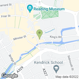 Map of Tribiq in Reading, berkshire