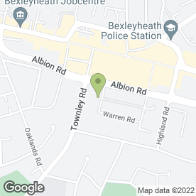 Map of DW Plastering in Bexleyheath, kent