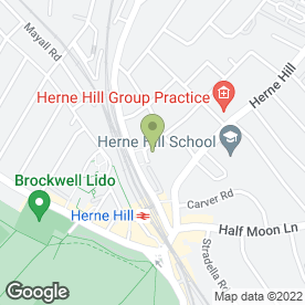 Map of Herne Hill Driving School in London, london