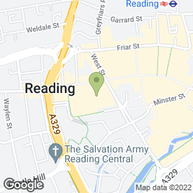 Map of Greggs in Reading, berkshire