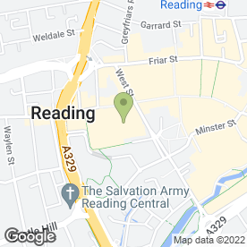 Map of Bakers Oven in READING, berkshire