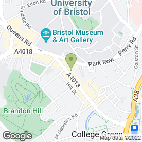 Map of Bristol Guild of Applied Art Ltd in Bristol, avon