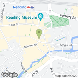 Map of Munchees in Reading, berkshire