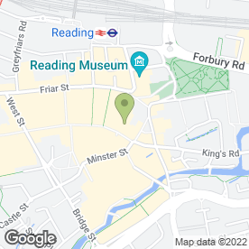 Map of O2 in Reading, berkshire