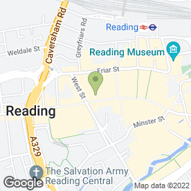 Map of Caffe Nero in Reading, berkshire