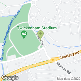 Map of Knighthawk Deliveries Ltd in Twickenham, middlesex