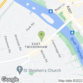 Map of THAMES TRAVEL in Twickenham, middlesex