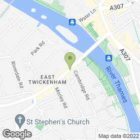 Map of A Cena in Twickenham, middlesex