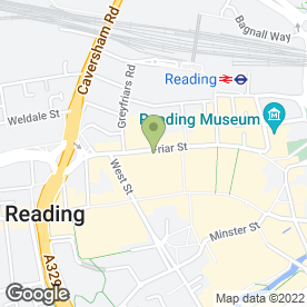 Map of Furama in Reading, berkshire