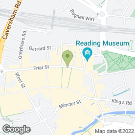 Map of Hickies Ltd in Reading, berkshire