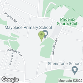 Map of Mayplace Primary School in Bexleyheath, kent