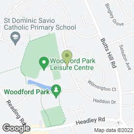 Map of Woodley Pre-School in Woodley, Reading, berkshire