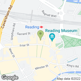 Map of Reading Collectors' Centre in Reading, berkshire