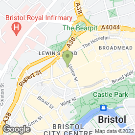 Map of Cotswold Outdoor in Bristol, avon