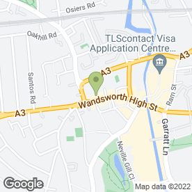 Map of TOAST in London, london