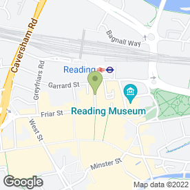Map of Royal Bank of Scotland in Reading, berkshire