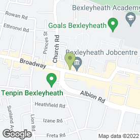 Map of Indulgence Beauty Salon in BEXLEYHEATH, kent