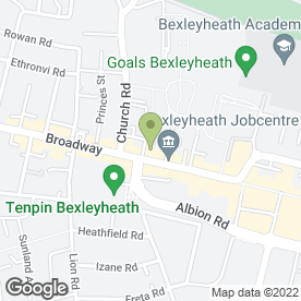Map of T G Baynes in Bexleyheath, kent