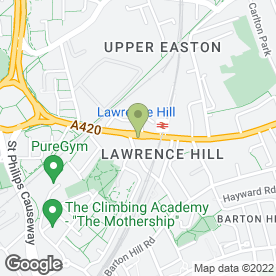 Map of Lawrence Hill Post Office & Off Licence in Bristol, avon