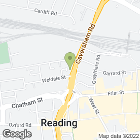 Map of Budget Car & Van Rental in Reading, berkshire