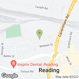 Map of PIZZA CENTRAL in Reading, berkshire