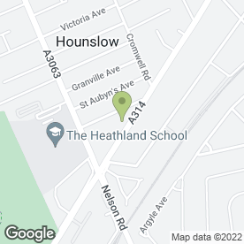 Map of Hanworth Tyres & Car Parts Ltd in Hounslow, middlesex