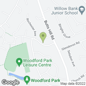 Map of Hamiltons in Woodley, Reading, berkshire
