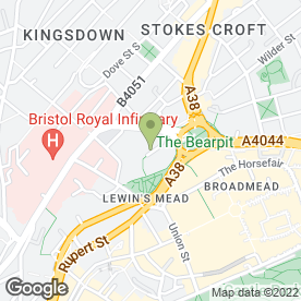 Map of Witness Service in Bristol, avon