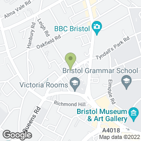 Map of Washington Hotel in Clifton, Bristol, avon