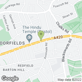 Map of E-BIKES UK in St. George, Bristol, avon