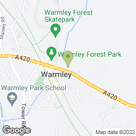 Map of Sexual Therapy for Men & Couples in Warmley, Bristol, avon