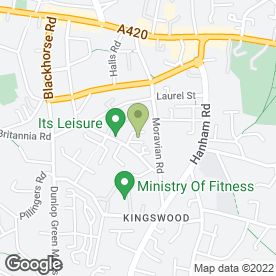 Map of Bristol & West Memorials in Kingswood, Bristol, avon