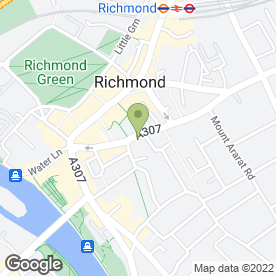 Map of New Stitches Ltd in Richmond, surrey
