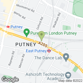 Map of Putney Station Restaurant in London, london